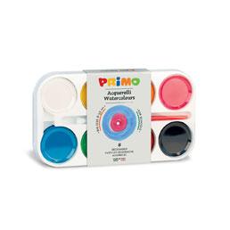 آبرنگ جعبه پلاستیكي ۱۲ رنگ، 8 رنگ متالیك + 4 رنگ فلو + پالت + قلم مو