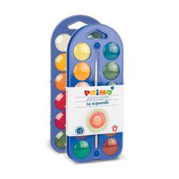 آبرنگ جعبه پلاستیکی ۲۴رنگ + پالت + قلممو